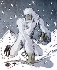 Yeti Illustration des französischen Künstlers Philippe Semeria