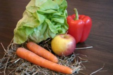 Heu, Obst und Gemüse